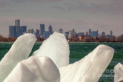 Photograph - Detroit River Ice by Jim West