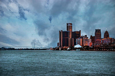 Digital Art - Detroit Skyline Dsc_0830 by Michael Thomas