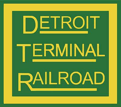 Curated Beach Towels - Detroit Terminal Railroad Logo by Pat Turner