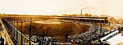Photograph - Detroit Tiger Vs Chicago Cubs 1907 World Series Bennett Park Stadium by Unknown