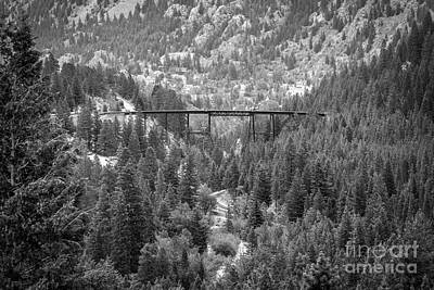 Photograph - Devils Gate In Black And White by Jon Burch Photography