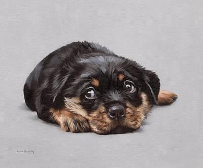 Rottweiler Wall Art - Painting - Dexter by Rachel Stribbling