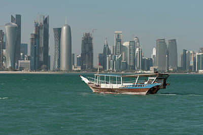 Dhow Photograph - Dhow In The Harbor Of Doha, Qatar On by Ajansen