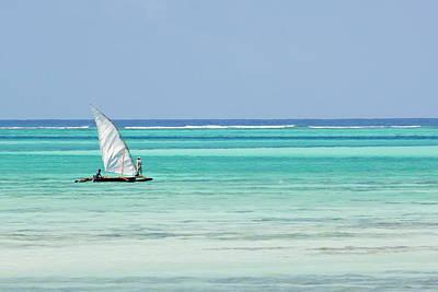 Dhow Photograph - Dhow, Traditional Boat, Zanzibar Town by Ariadne Van Zandbergen