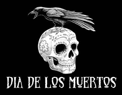 Drawing - Dia De Los Muertos by Barry Munden