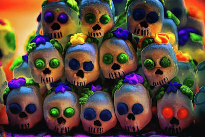 Photograph - Dia De Los Muertos Candy Skulls 2 by Tatiana Travelways