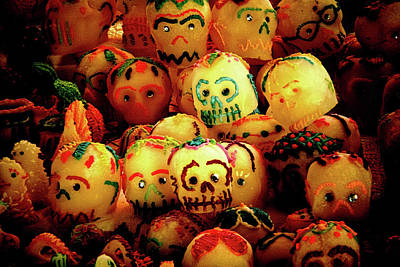 Photograph - Dia De Los Muertos Candy Skulls by Tatiana Travelways