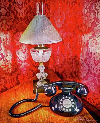 Art Print featuring the painting Dial Up Telephone by Joan Reese