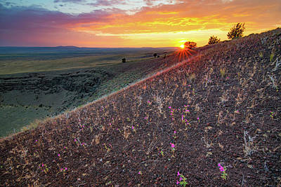 Photograph - Diamond Craters Sunset by Leland D Howard