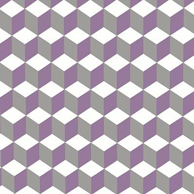 Digital Art - Diamond Repeating Pattern In Crocus Purple And Grey by Taiche Acrylic Art