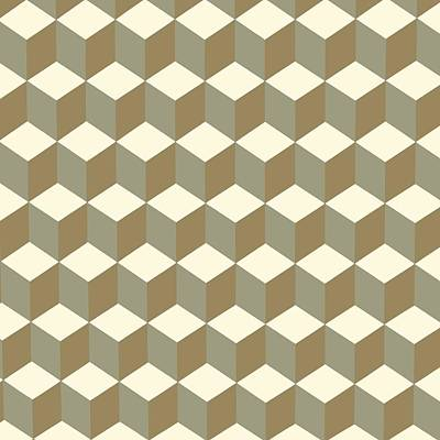 Digital Art - Diamond Repeating Pattern In Meerkat Brown And Grey by Taiche Acrylic Art