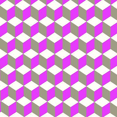 Digital Art - Diamond Repeating Pattern In Ultra Violet Purple And Grey  by Taiche Acrylic Art