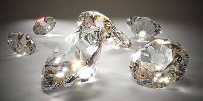 Diamonds Art Print by Mevans