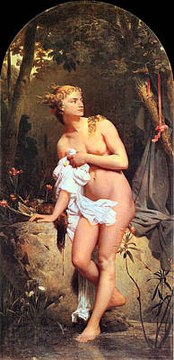 Painting - Diana by Marc-Gabriel-Charles Gleyre 1806-1874