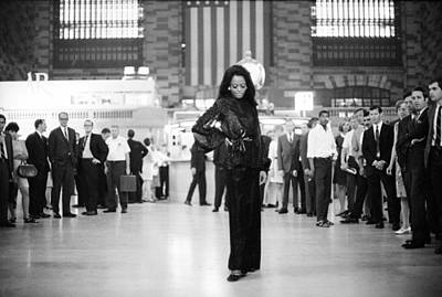 Photograph - Diana Ross In Grand Central by Jack Robinson