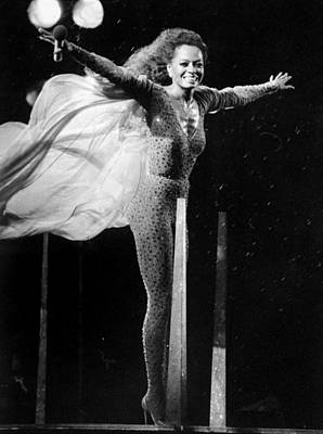 New York City Photograph - Diana Ross Seems Ready To Take Off At by New York Daily News Archive