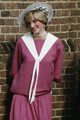 Photograph - Diana Wedding Guest by Princess Diana Archive