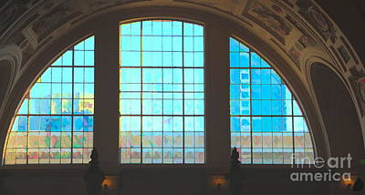 Digital Art - Digital Art Windows San Francisco City Hall Color  by Chuck Kuhn