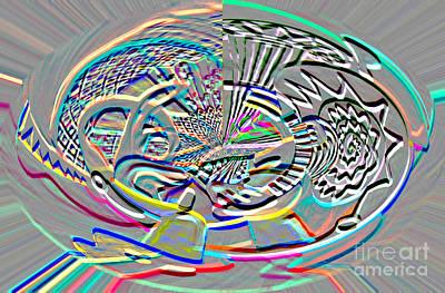 Digital Art - Digital II The Guitarist by James Lavott
