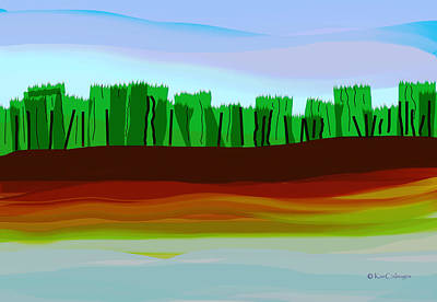 Digital Art - Digital Landscape Organic City by Kae Cheatham