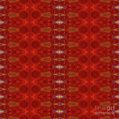 Digital Art - Patterns Colorful - Ruby Red Modern Pattern - By Omaste Witkowski by Omaste Witkowski