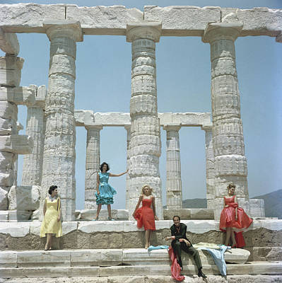 Fashion Photograph - Dimitris Kritsas by Slim Aarons