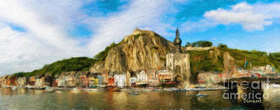 Digital Art - Dinant Cityscape 3 by DiFigiano Photography