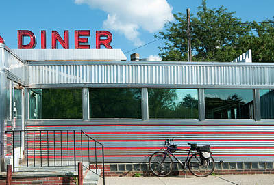 Photograph - Diner With Bicycle by Kenwiedemann