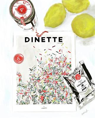 Still Life Drawings - Dinette et Chocolat by Beth Saffer