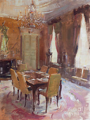 Painting - Dining at the Swan by Patrick Saunders