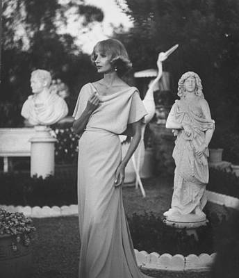 Photograph - Dinner Dress Made By California Designer by Gordon Parks