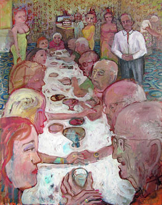 Painting - Dinner Party by Paul Emory