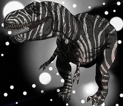 Digital Art - Dinosaur Zebra Tyrannosaurus by Joan Stratton
