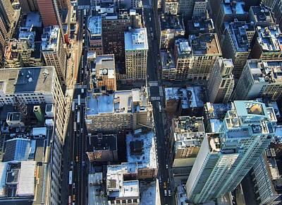 Directly Above Shot Of City Art Print by Gavin Pugh / Eyeem