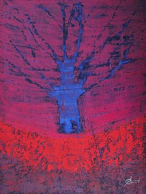 Painting - Disappearing Tree Original Painting by Sol Luckman