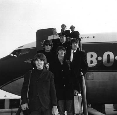 Photograph - Disembarking Beatles by Ted West