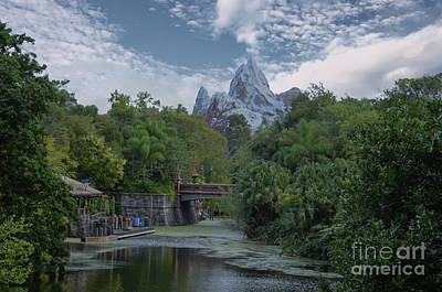 Photograph - Disney World Mountain by Dale Powell