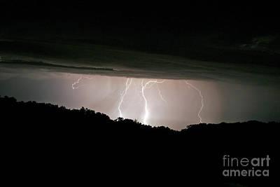Photograph - Distant Lightning Landscape by Pete Klinger