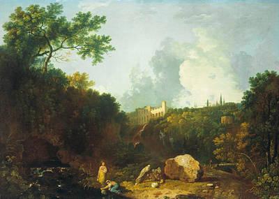 Painting - Distant View Of Maecenas' Villa, Tivoli by Richard Wilson