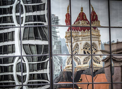 Photograph - Distorted Portland Reflections by Jean Noren