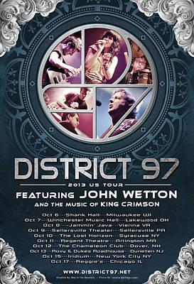 Digital Art - District 97/john Wetton Us Tour by District 97