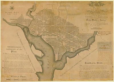 District Of Columbia 1792 Washington Art Print