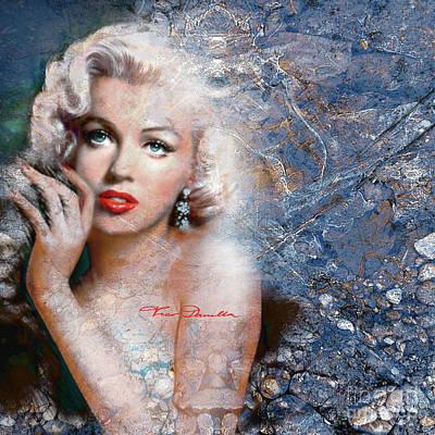 Digital Art - Diva Mm Blue by Theo Danella