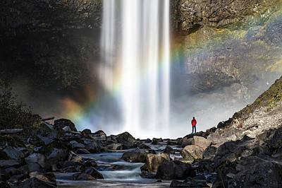 Art Print featuring the photograph Divine Hand Shadow At Brandywine Falls by Pierre Leclerc Photography