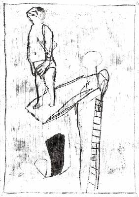 Drawing - Diving Board by Artist Dot