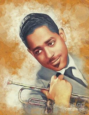 Music Paintings - Dizzy Gillespie, Music Legend by Esoterica Art Agency