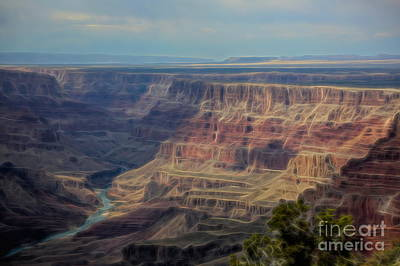 Photograph - Dizzy View Grand Canyon  by Chuck Kuhn