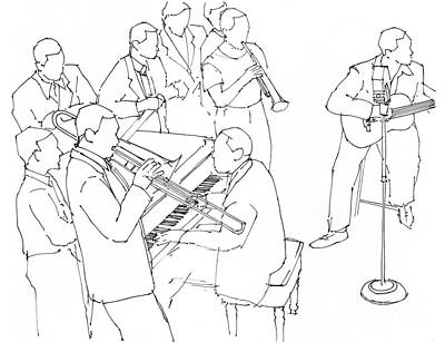Jazz Royalty-Free and Rights-Managed Images - Django and Duke by Drawspots Illustrations