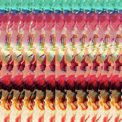 Digital Art - Dna Autostereogram Qualias Jungle Bl by Russell Kightley