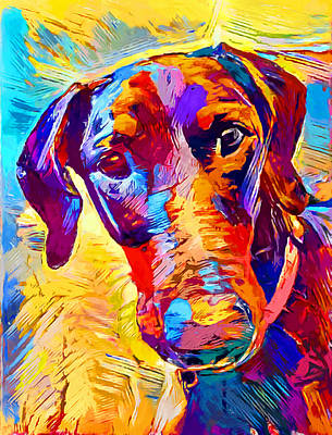 Doberman Pinscher Wall Art - Painting - Doberman 4 by Chris Butler